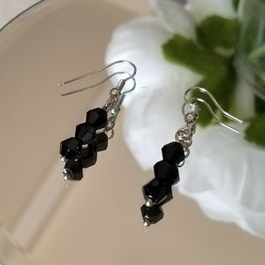 Swarovski Elements Black Earrings NWT